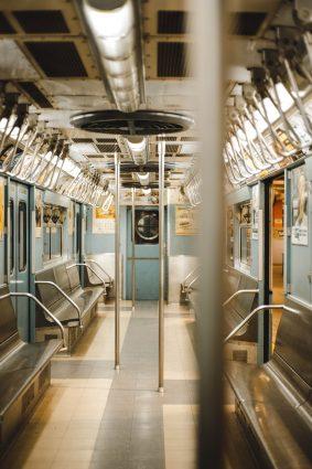 Inside of a train.