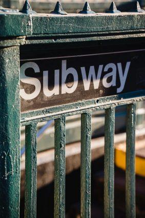 Subway sign.